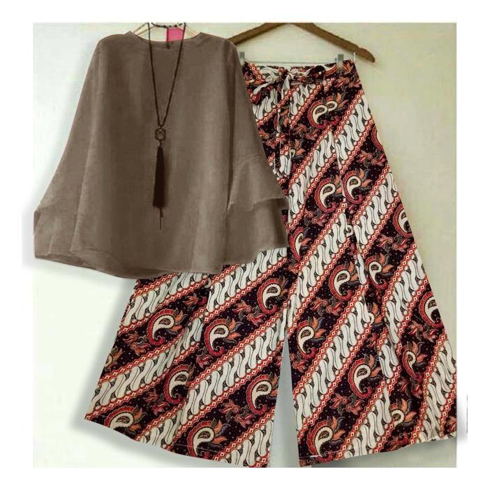PALING DISUKAI !! Setelan Kulot Batik Celana