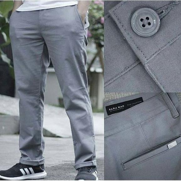 Chinos Pants Zara Men Basic Original / Celana Chino Pria Ori Branded - Liebp0