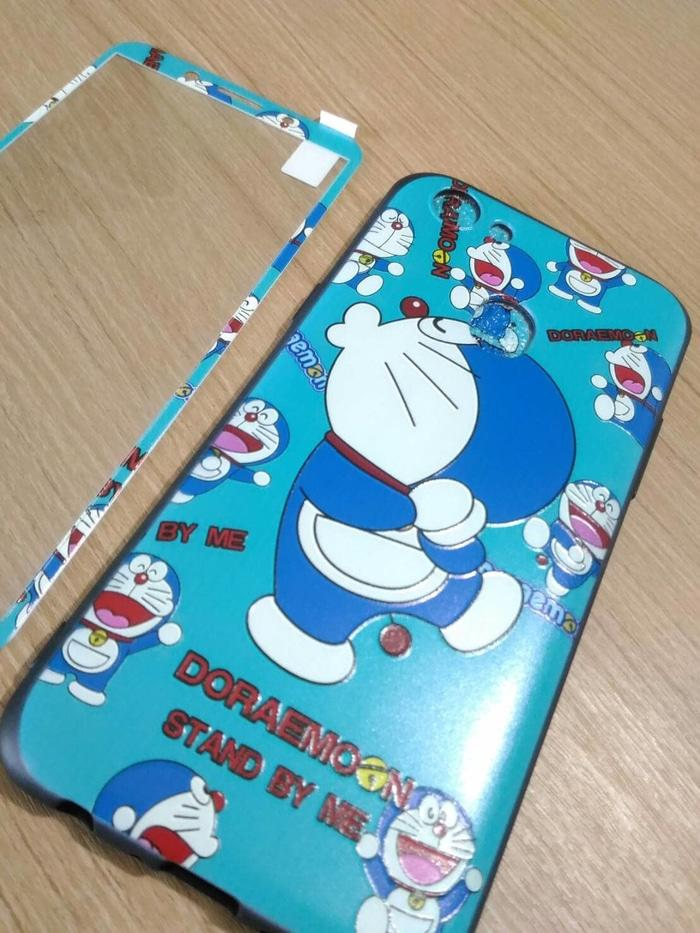 Case Oppo F5 Youth Softcase 360 Tempered Glass Doraemon