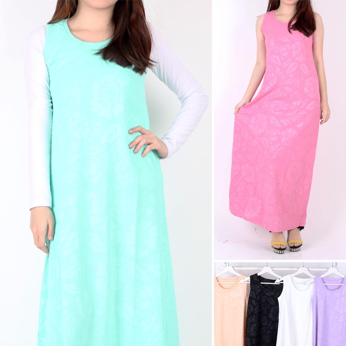 Oma Holley Fashion Belvyah Maksi Dress Sleeveless 4 Warna-Size M