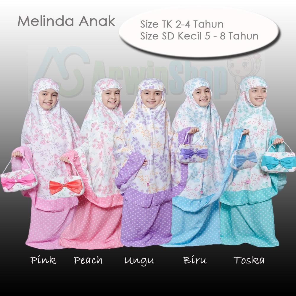 New Varian Anak!! Mukena Rayon Melinda Warna Baru Yang Simple Dan Cantik Untuk Anak TK dan Sd Kecil TK - TOSCA