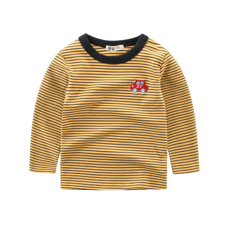 Kaos Katun Elastis Musim Semi atau Musim Gugur Baju Dalaman Musim Semi Sayang (LS3113 Coklat