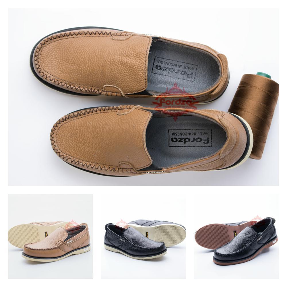 Sepatu Pria Slip On Model Casual Kulit Asli Formal Non Formal Handmade Original Fordza C01  di lapa