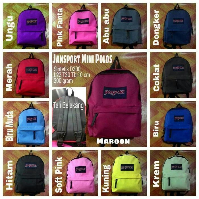 Tas Backpack Branded Wanita Cantik Berkelas  TGB01 TAS JANSPORT kecil / Jansport mini / tas ransel mini