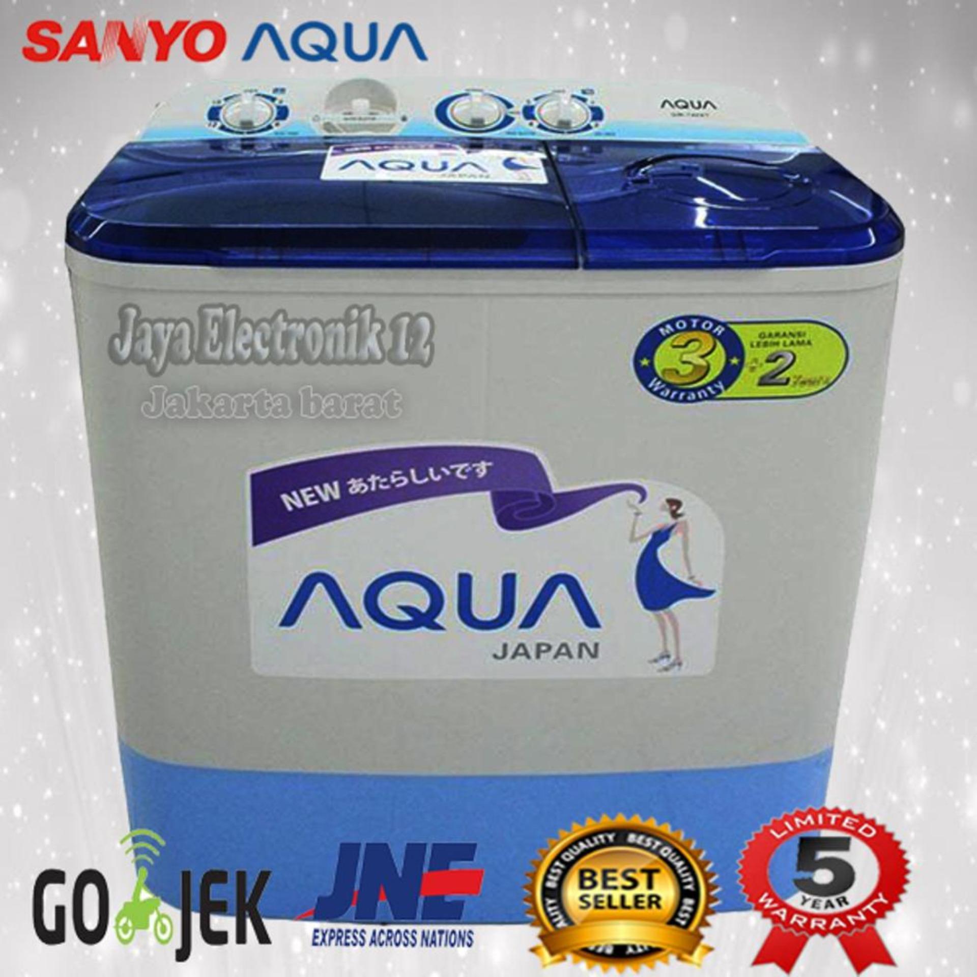 Mesin cuci 2 tabung sanyo aqua 771xt