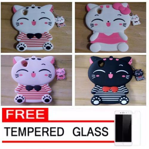 Case Softcase Karakter 4D Cat Kucing Fashion OPPO A37 /NEO 9 Free Tempered Glass -