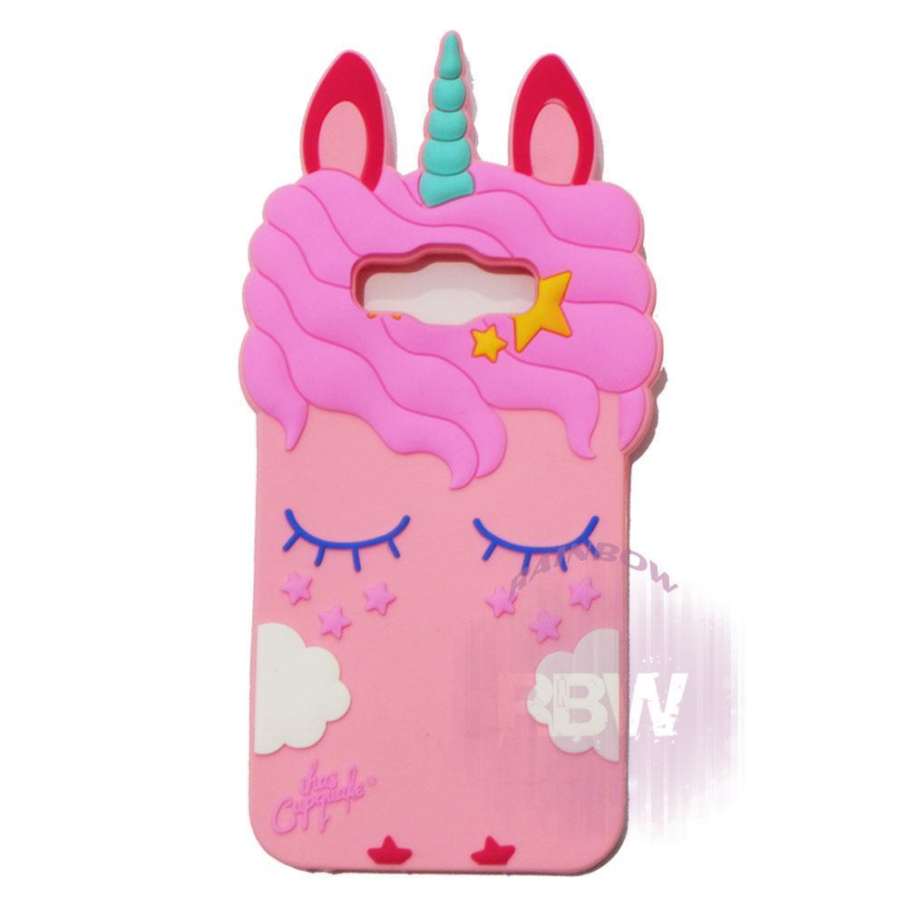 Rainbow Silicone 3D Case Samsung Galaxy J7 Core / Soft Case Boneka Lucu / Casing Unik Kuda Poni / C