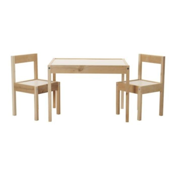IKEA LATT Meja anak dengan 2 kursi, putih, kayu pinus