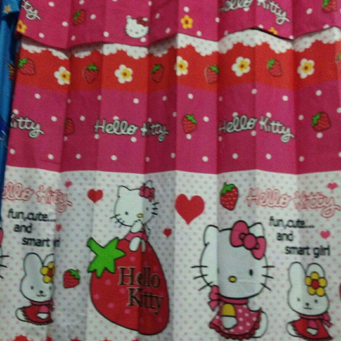 ... Gorden Pintu Jendela Minimalis Karater Hello Kitty/Gordyn karakter/ gorden motif Kartun Hello Kitty ...