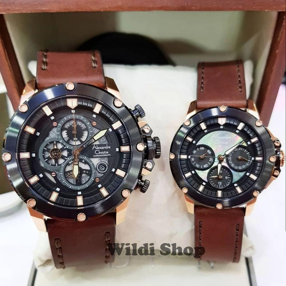 Harga Alexandre Christie Jam Tangan Couple Stainless Steel Ac 5010 8333 Rose Gold Original Ac6416 Leather Coklat Rosegold