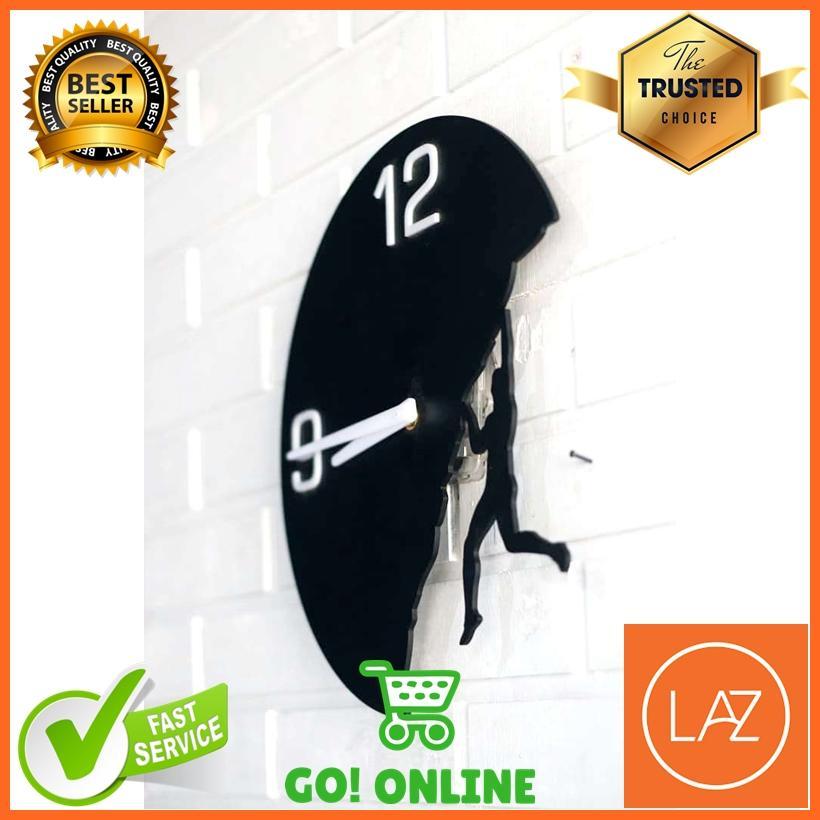 Cek Jam Dinding Akrilik Model Unik Wall Clock Diameter 30 Cm Dan ... 69b062399d