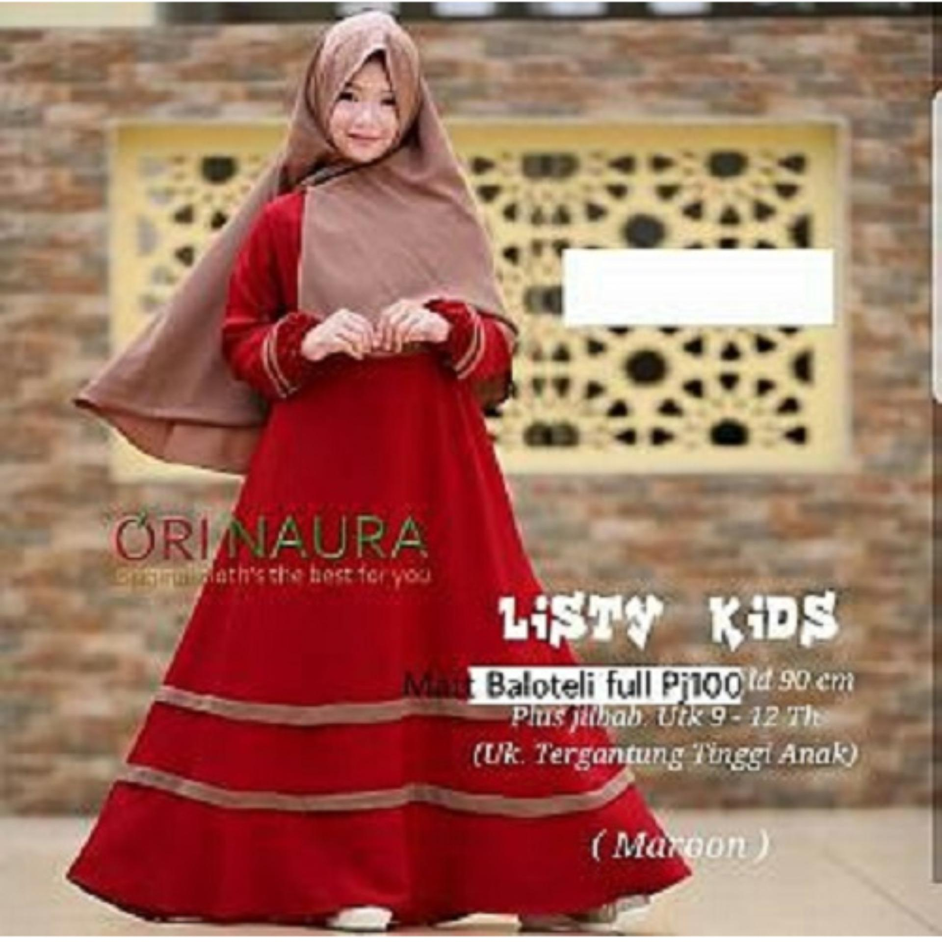 ALL FREE SHOP - Pakaian Anak Perempuan Fashionable - Gamis Kids - Kid Listy