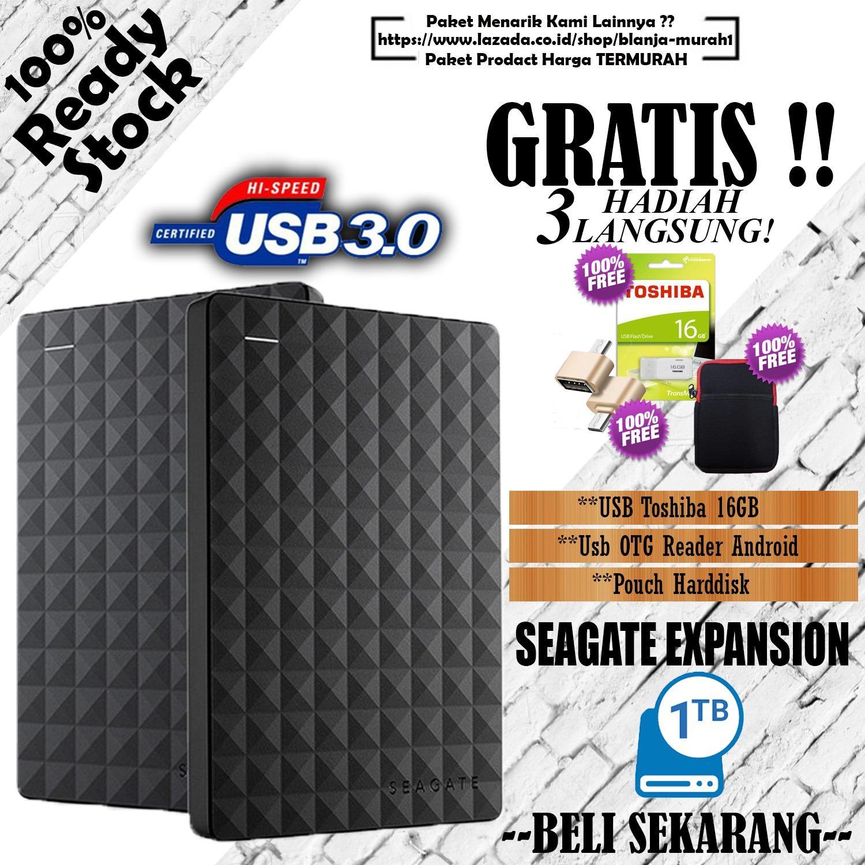 ... Hitam + Gratis Go Green Bag + Pouch + Pen | Shopee Indonesia. Source · Seagate 1TB Harddisk Eksternal Expansion Usb 3 0 2 5inch Black GRATIS Usb .