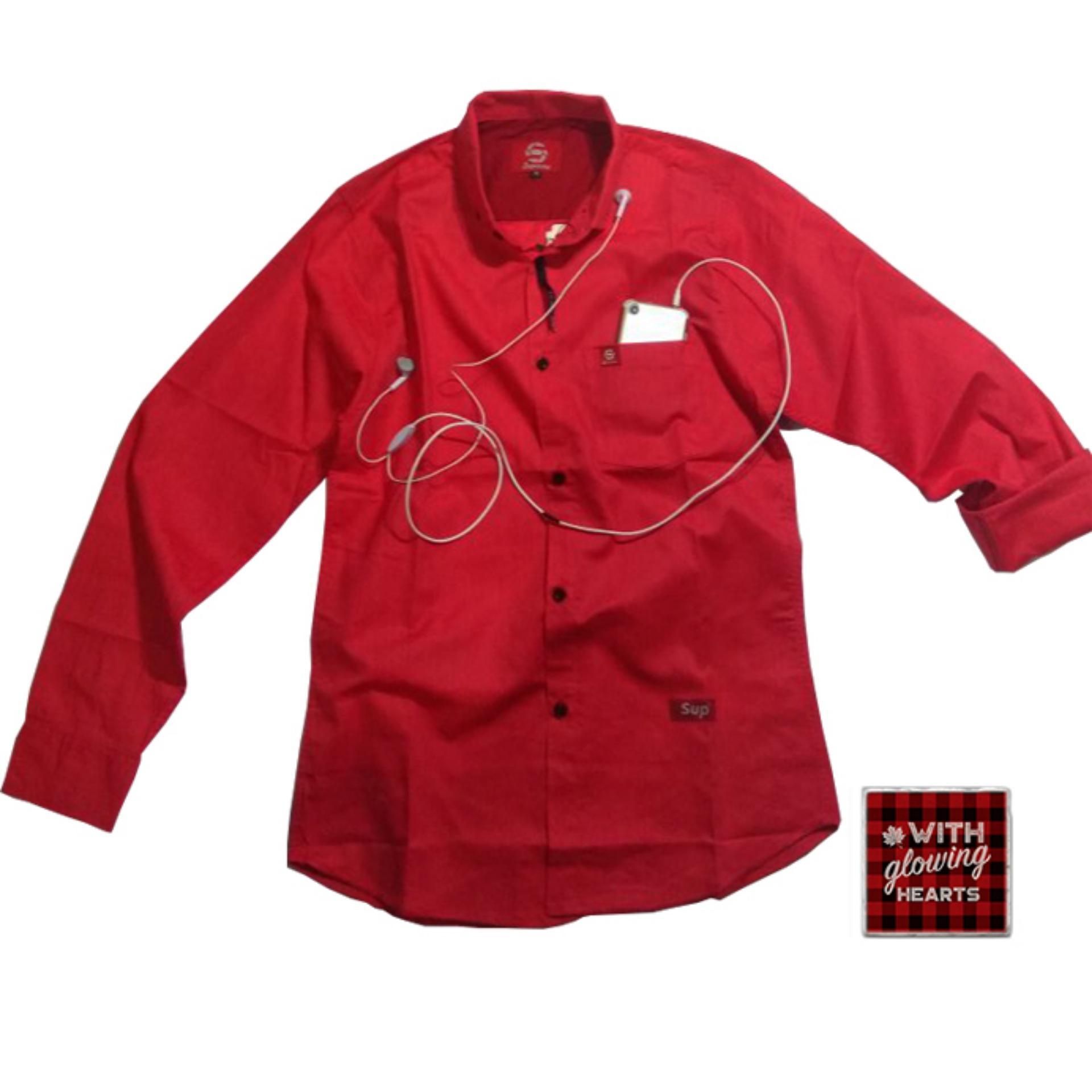 Ulasan Lengkap Kemeja Kantor Pria Merah Marun Elegan Banget