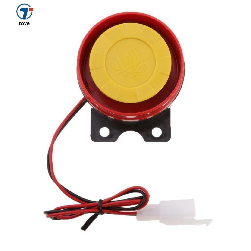 12V Car Truck Motorcycle ATV Raid Siren Small Electric Horn Alarm Red