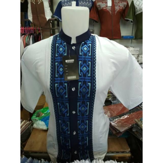Baju Koko Pria Muslim Lengan Pendek Model Terbaru Bhn Katun Halus&Lembut Ukuran M L Xl