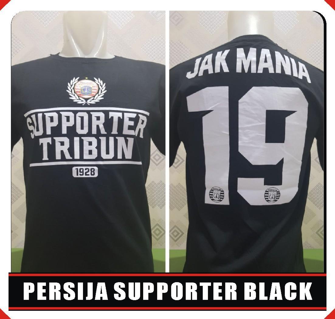 kaos suporter PERSIJA SUPPORTER BLACK