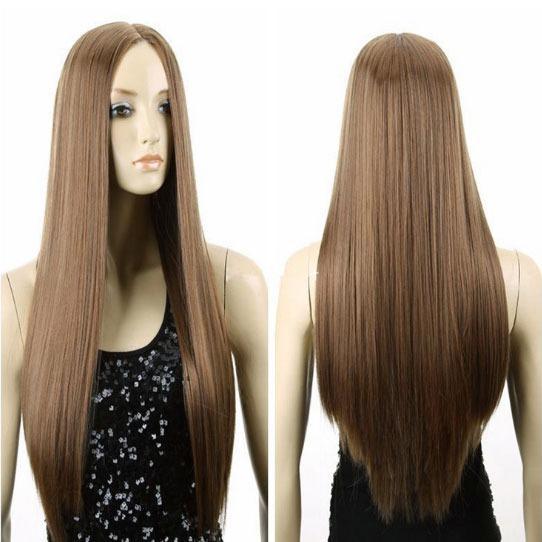 Hair Wig / Rambut Palsu Panjang Lurus (Light Brown) - HO5227