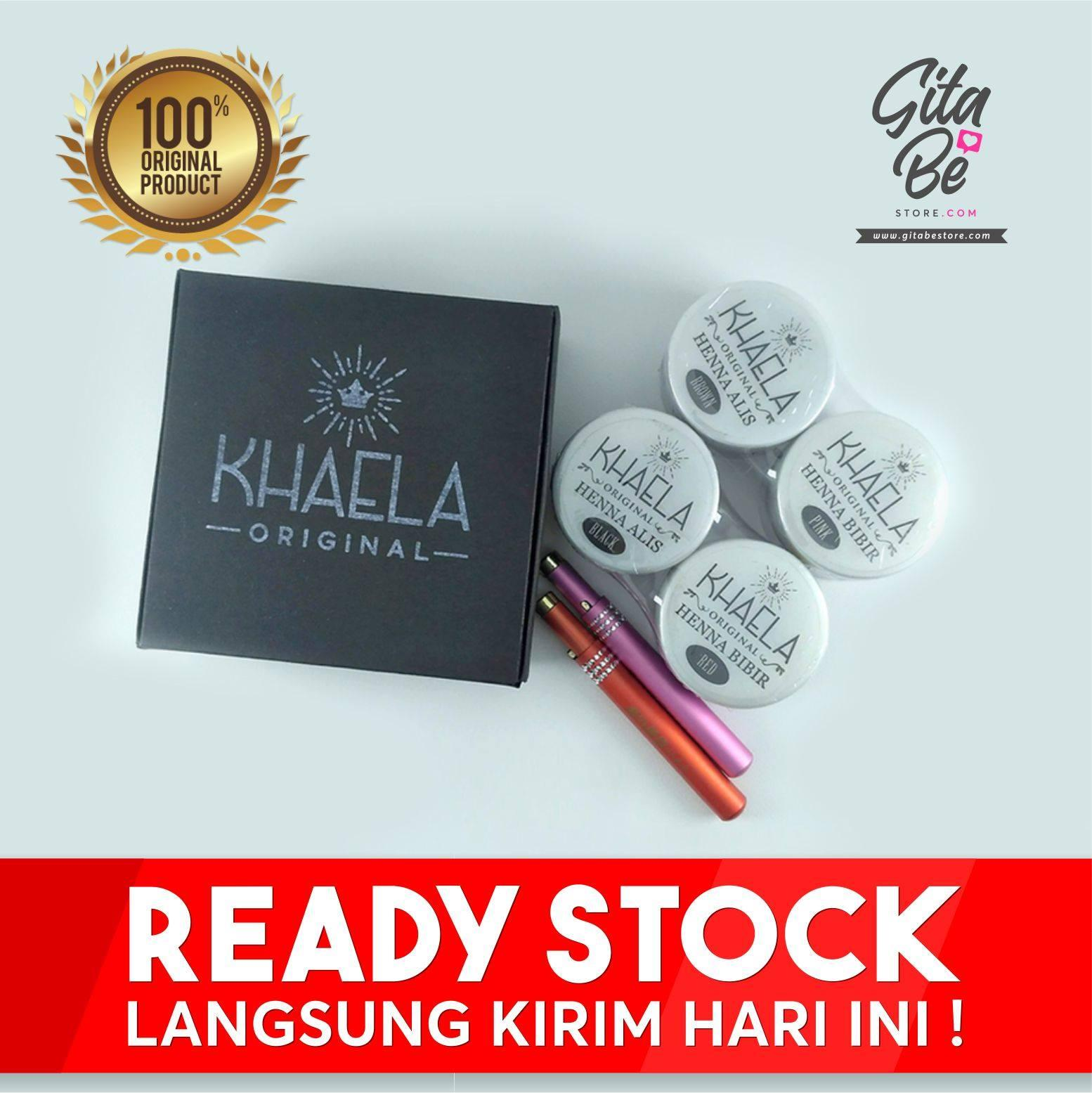 Fitur Original Paket Exclusive Khaela Henna Alis Dan Warna Coklat Hitam Ecer 1pc Bibir 2