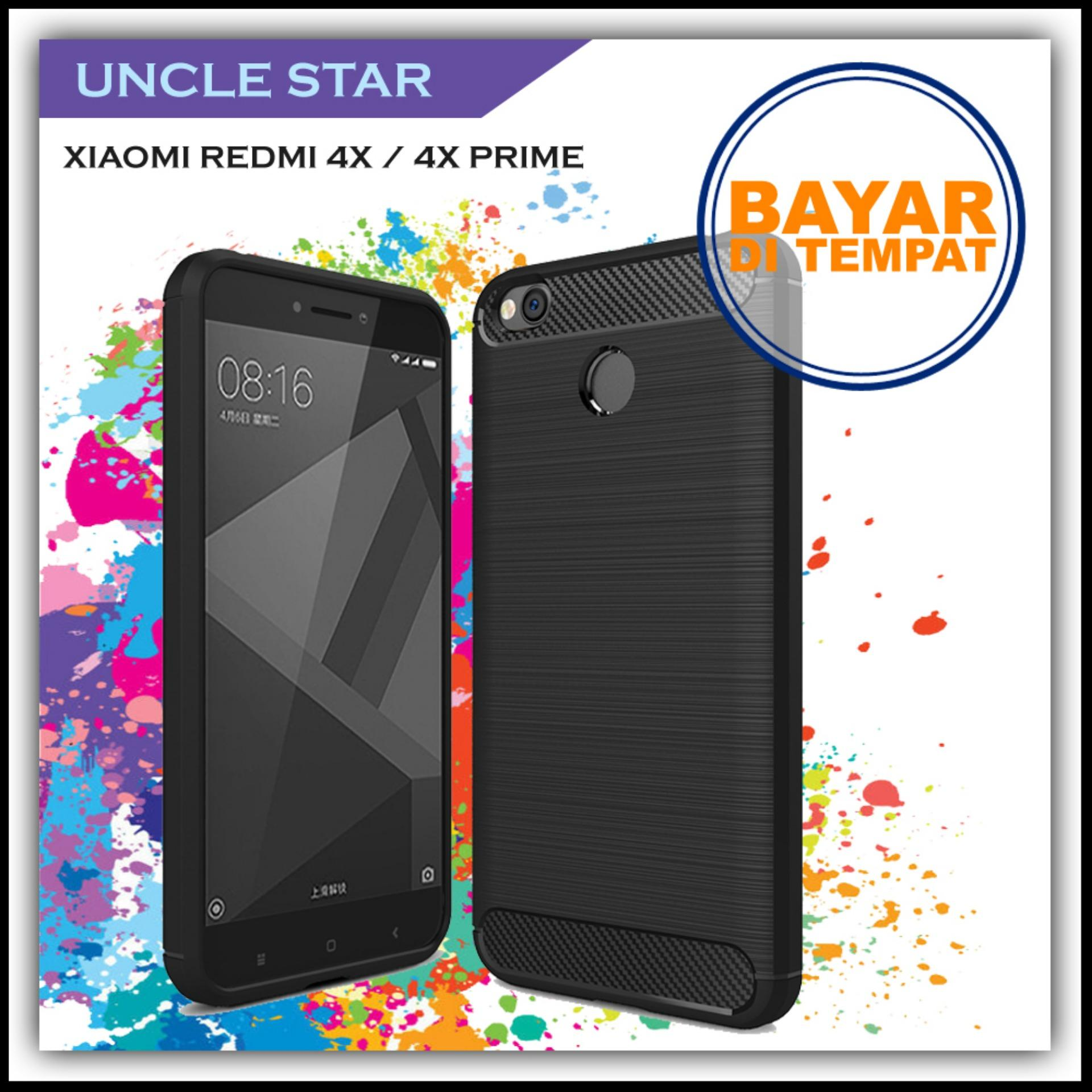Uncle Star - Case Ipaky Carbon Fiber Shockproof Hybrid Elegant Case for Xiaomi Redmi 4x /