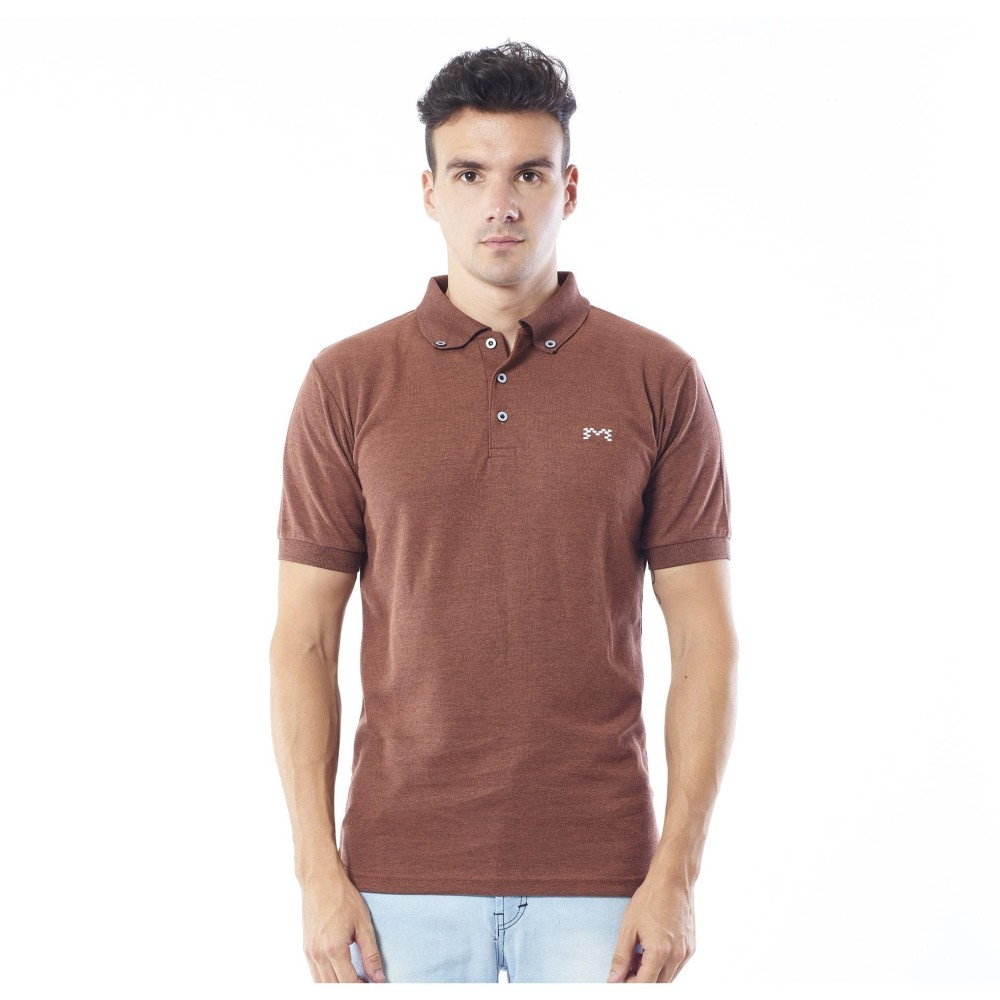 Spesifikasi Mark Polo Shirt Two Tone Brown Baru