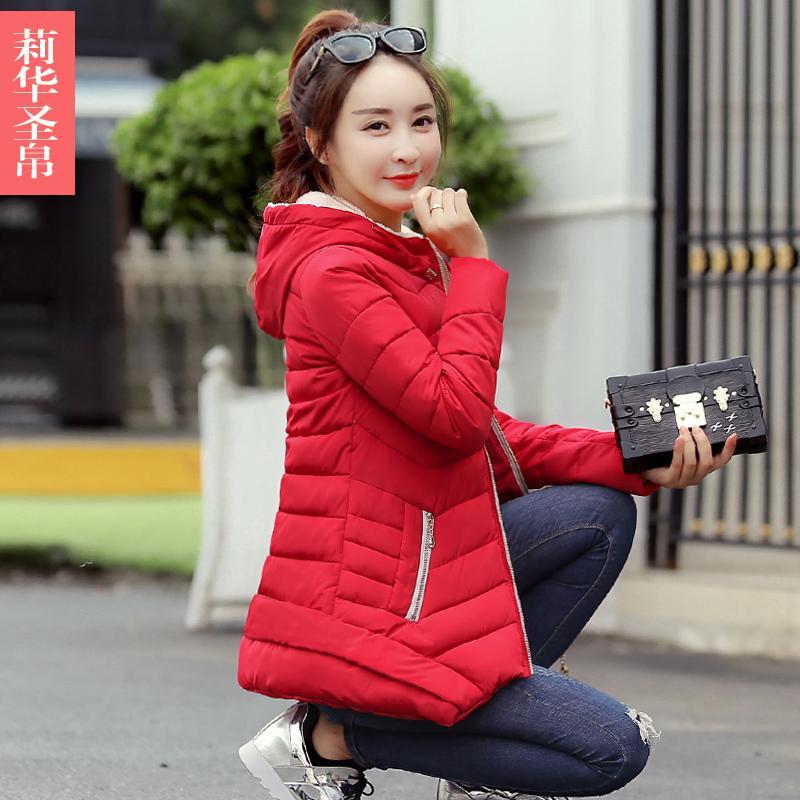 Detail Gambar Musim gugur musim dingin model baru 2018 ukuran besar hoodie  berpinggang baju katun wanita model setengah panjang pakaian wanita Gaya  Korea ... 3dcadb2619