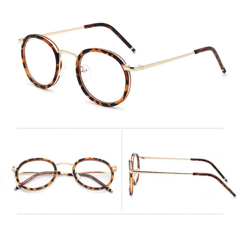 Gaya Korea Sastra 2018 Retro kaca polos Bingkai Kacamata perempuan pasang  model bingkai kacamata wanita pasang 011c512d4c