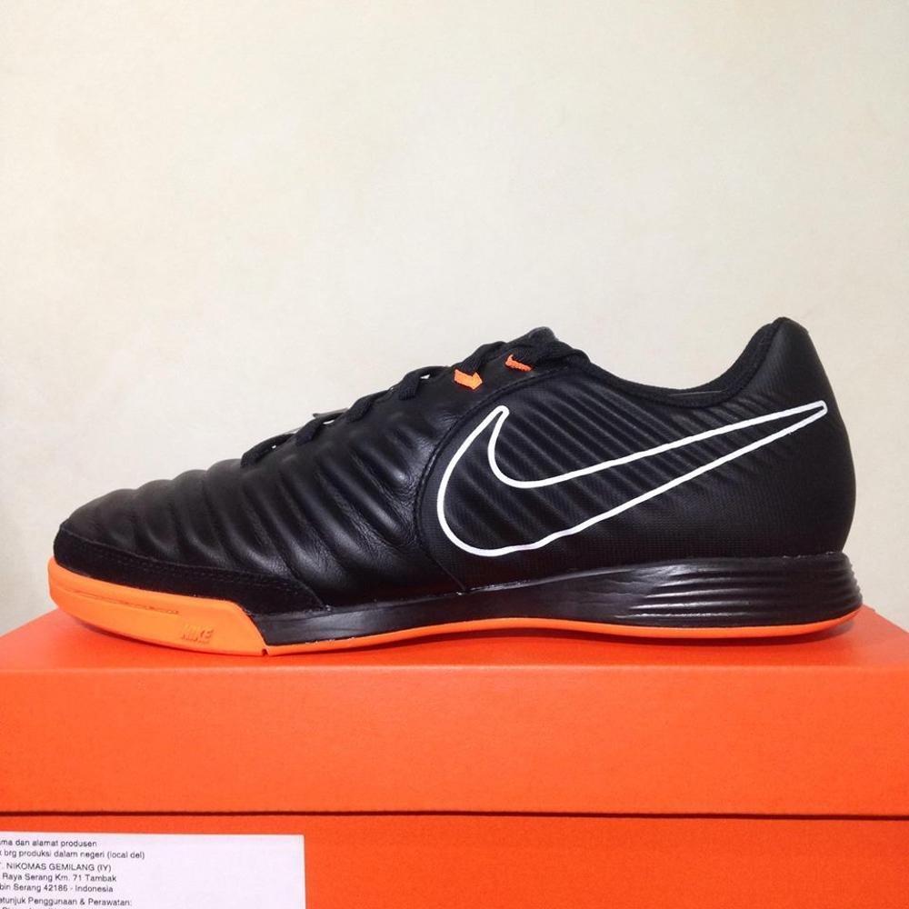 Sepatu Futsal Nike Legend X 7 Academy IC Black Total Orange AH7244-080 Original BNIB