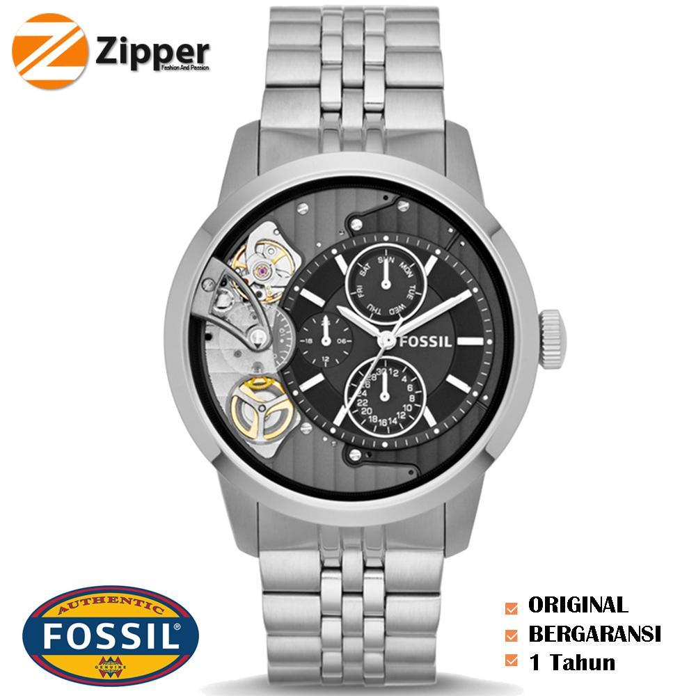 Fossil Jam Tangan Pria Ch2601 Decker Chronograph Black Ch2600 Spesial Me1135 Townsman Dial Stainless Steel Bracelet Watch