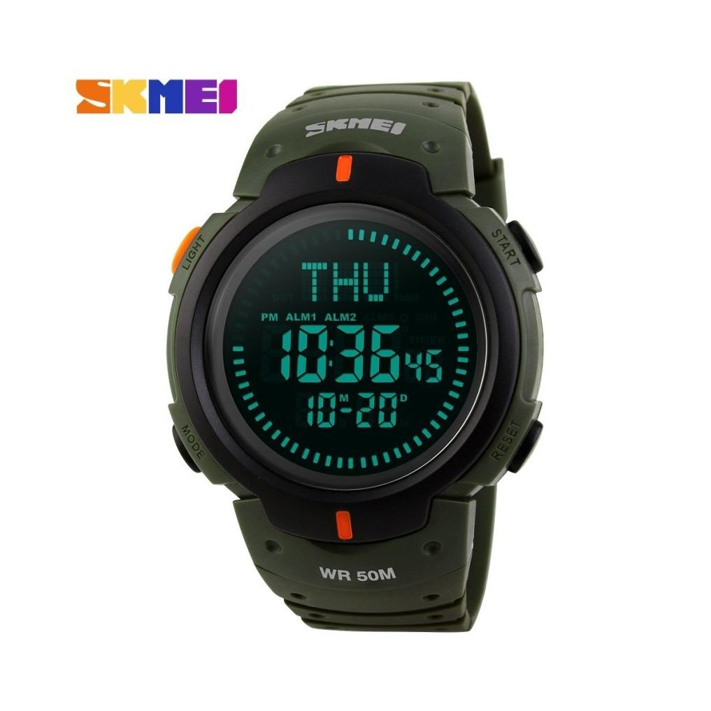 Spesifikasi Skmei Jam Tangan 1231 Pria Jam Tangan Digital Outdoor Kompas Sport Watch Alarm Countdown Ketepatan Waktu Tahan Air 2 Warna Murah