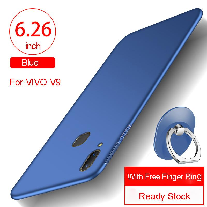 PC Matte Hard Ultra-Thin Shockproof Backcover Phone Case For VIVO V9 With Free Gift