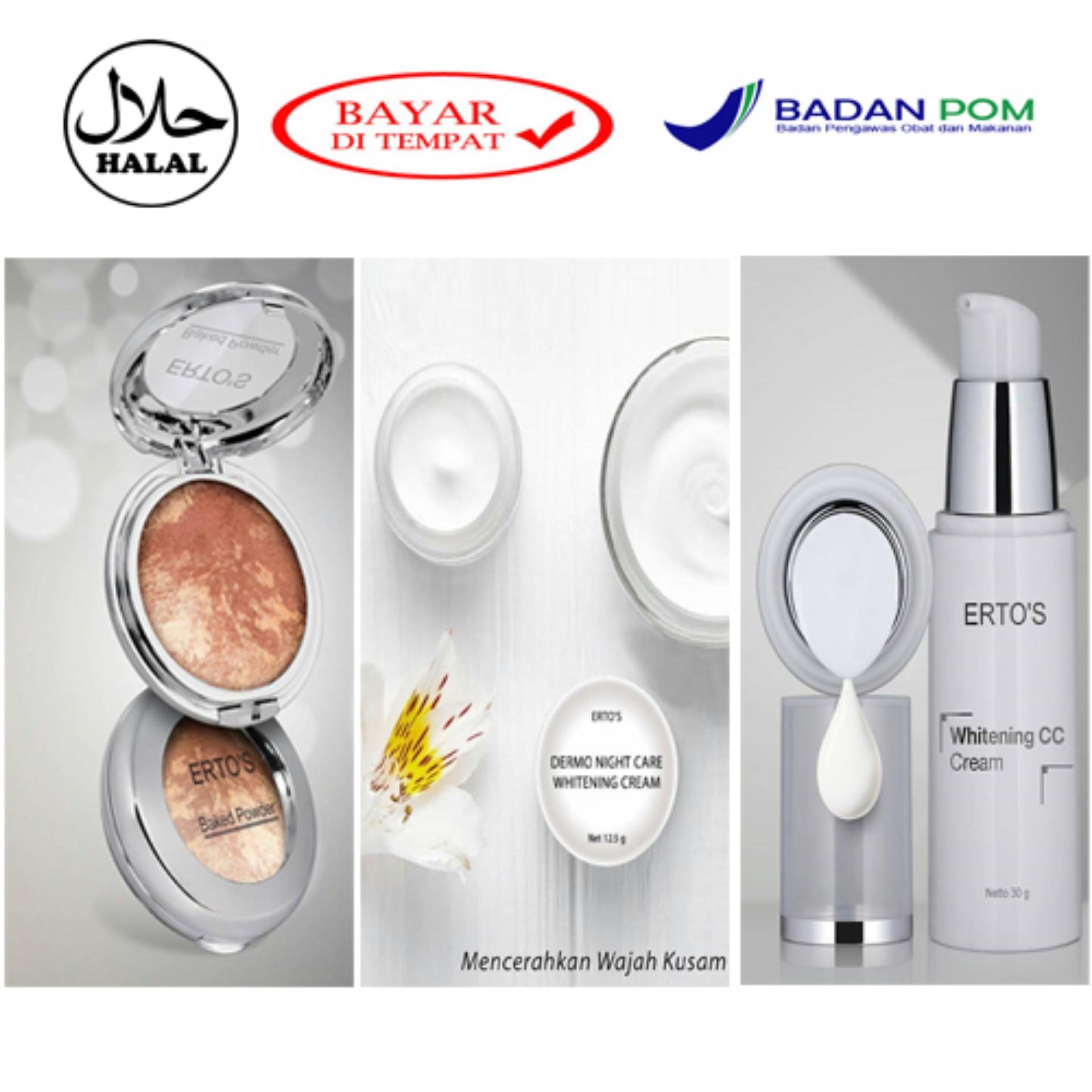 Ertos Paket Cc Cream Night Baked Powder Daftar Harga Hemat Kekinian Facial Treatment And Original Super Glowing