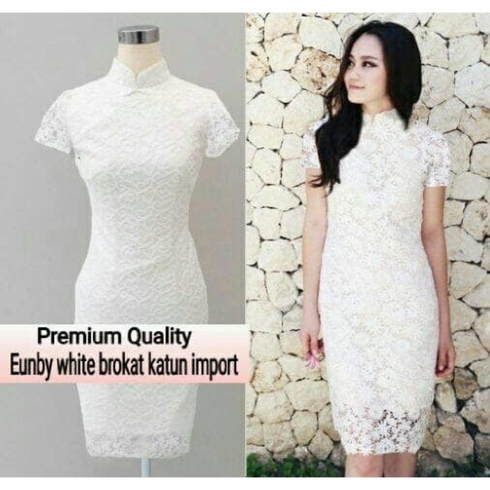 C&Buy Store Gaun Midi Brukat Wanita UNBIE / Midi Dress Wanita / Dress Brukat Cewek Gaun