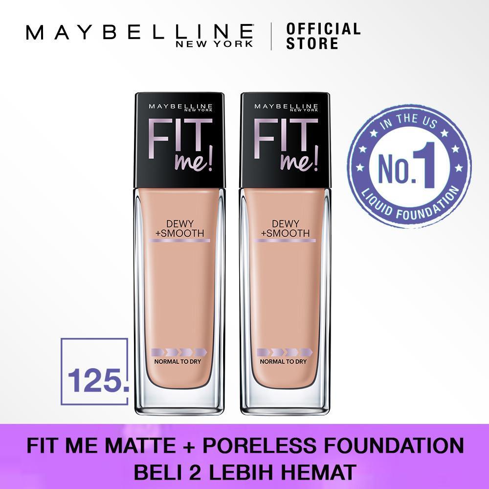 Fitur Maybelline Fit Me Like No Other Set Foundation 125 Nude Concealer 20 Sand Dewy Smooth Beige Beli 2 Lebih Hemat