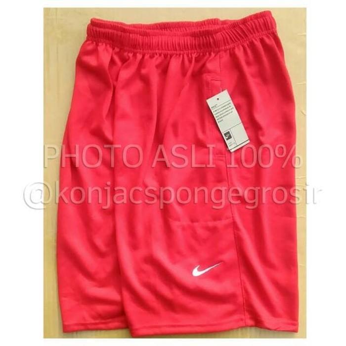 Nike Plain Merah Lotto- Jual Celana Pendek Kolor Bola Futsal Basket - 38Mk0p
