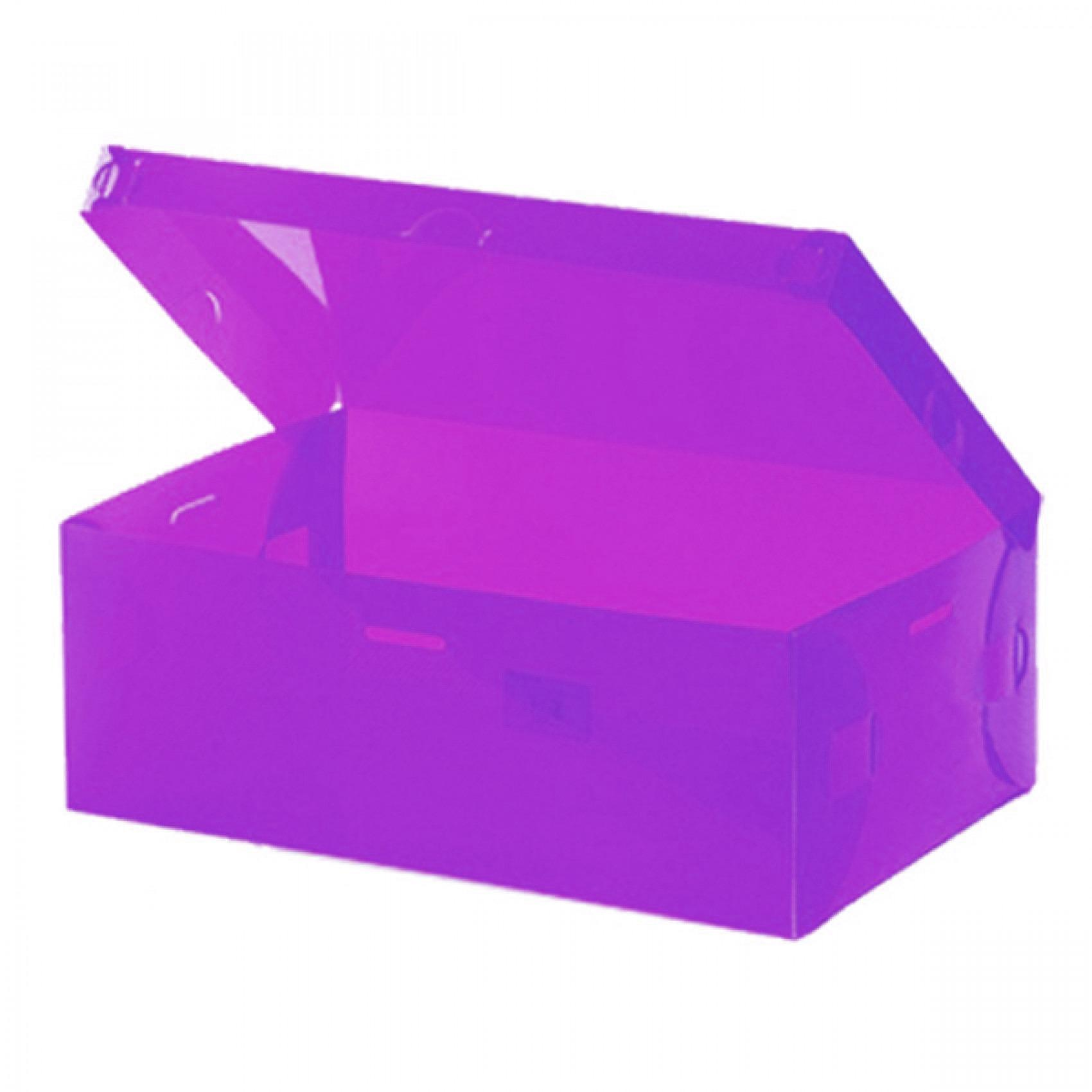 LARIS49 Kotak Sepatu Transparant Shoes Box Warna Warni Transparan - KSP