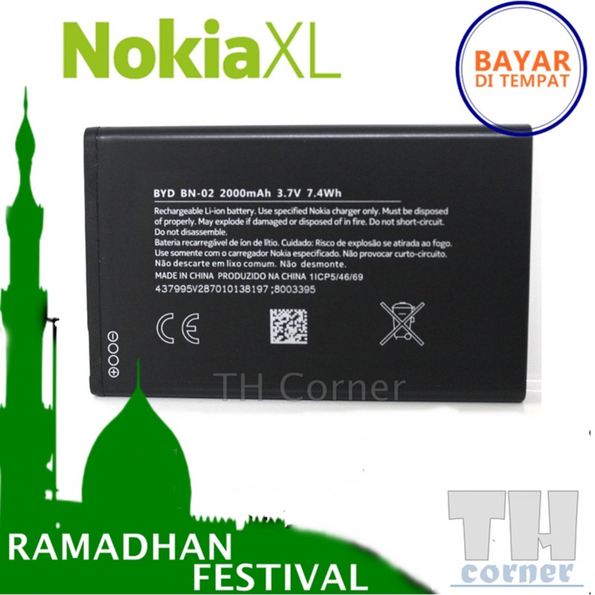 Nokia Battery BN-02 Capacity 2000mAh Baterai for Nokia XL - Original