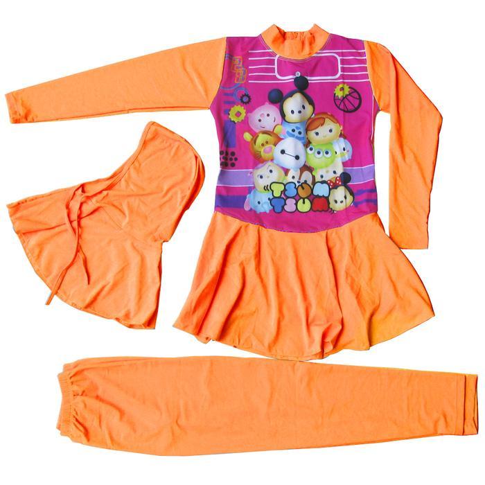 Baju Renang Anak Muslim Karakter Tsum-Tsum 5-10 Tahun