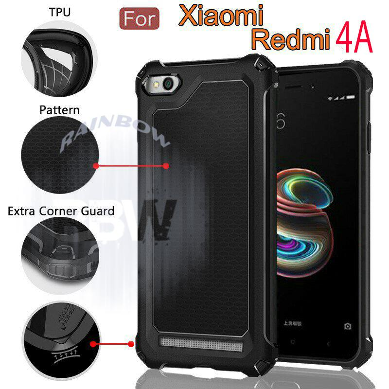 Rainbow Xiaomi Redmi 4a Soft Case Ultra Rugged Capsule Slim Air Cushion Tecknologi Line Glossy Design & Spider Interior Anti Slip Anti Shock / TPU Silikon Back Cover / Silicone Case / Softshell / Case Hp / Casing Xiaomi Redmi 4A  - Hitam