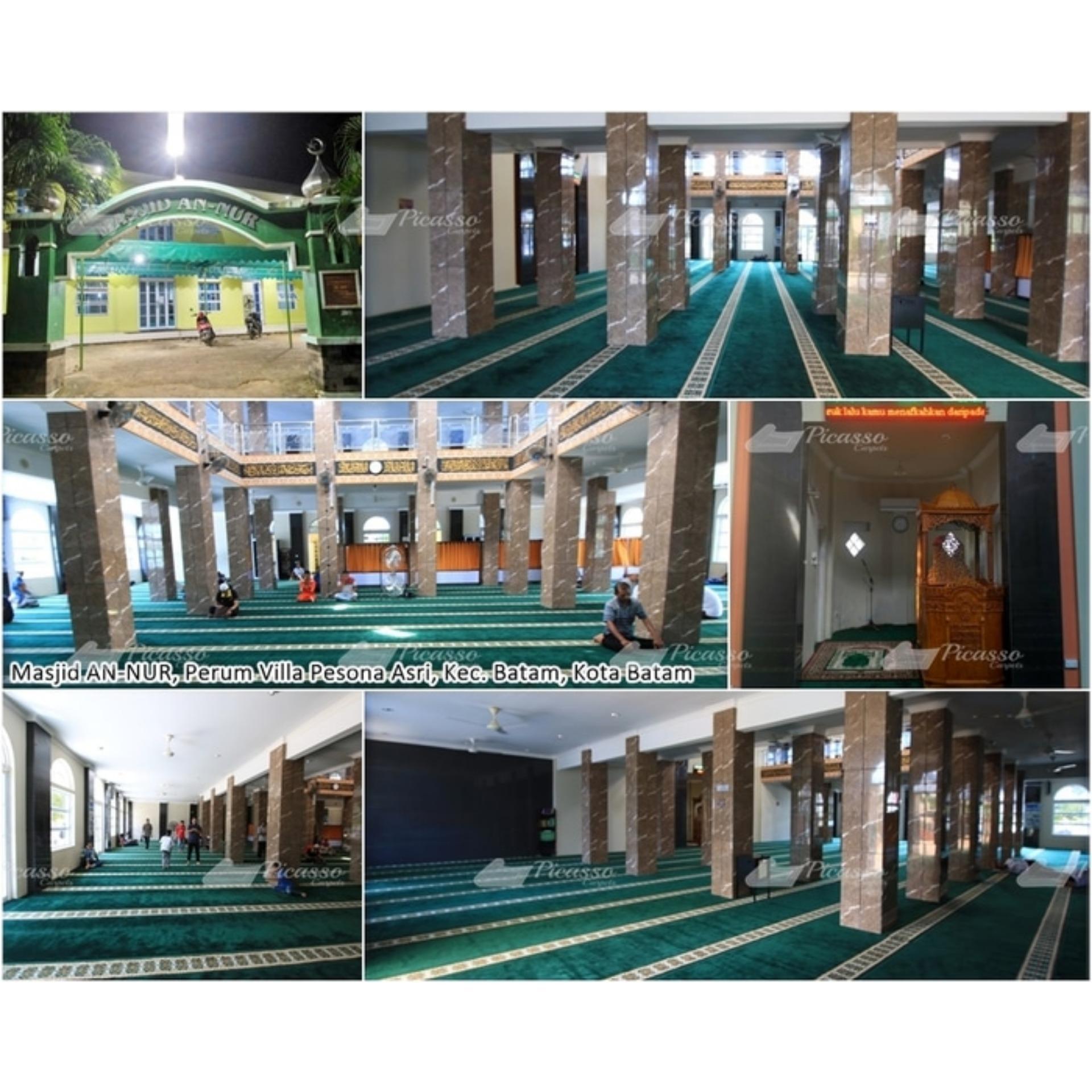 ... Medeena Masjid 21001 Roll Karpet Sajadah - Hijau [105 x 570 cm]. Source · Detail Gambar Sajadah Masjid Hijau Minimalis Kualitas Terbaik Terbaru