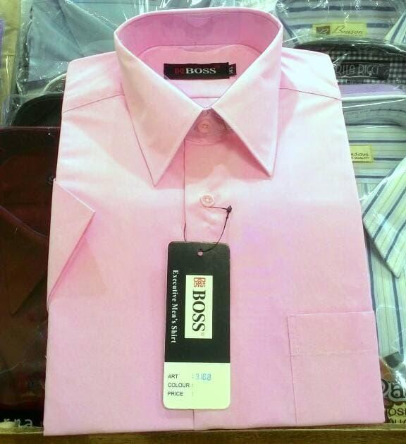 ... Big Size Jumbo XXL. Source · Detail Gambar Kemeja Boss Pendek Polos Pink Abu Tua Reguler - gEGgnQ Terbaru