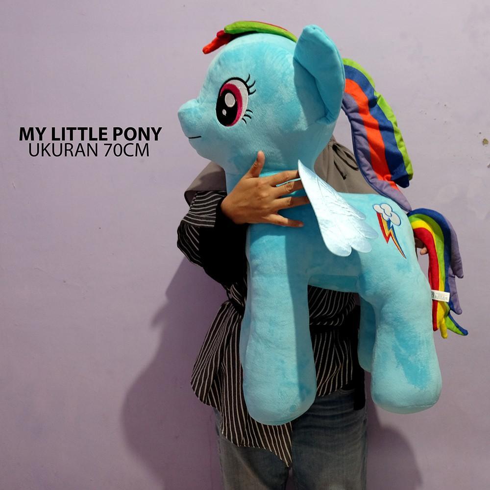 Boneka Kuda Pony Jumbo Giant bahan import kwalitas mewah kuda pony rainbow f7b690a59d