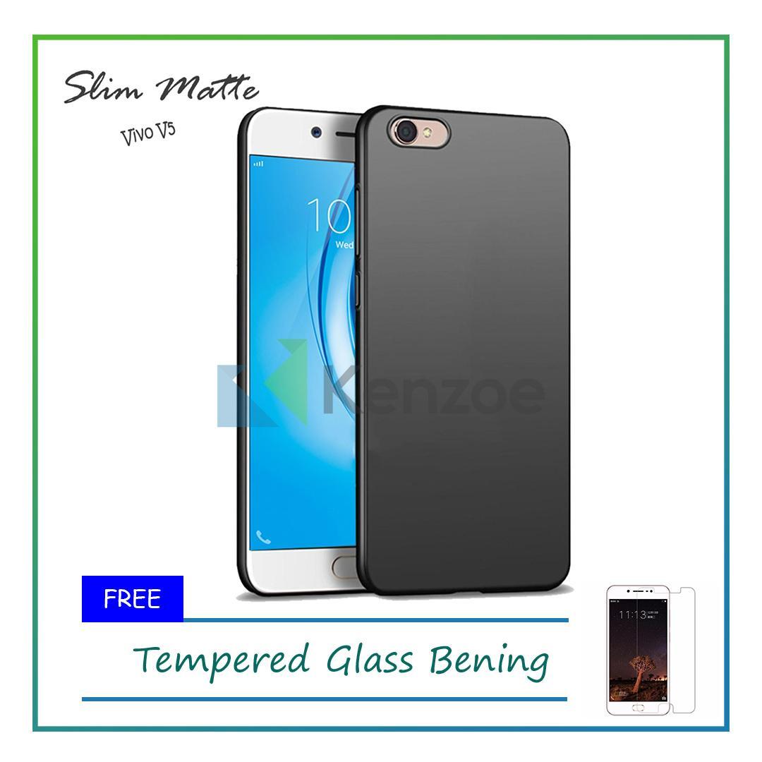 Case Slim Black Matte Vivo V5 Baby Skin Softcase Ultra Thin Jelly Silikon Babyskin - Black
