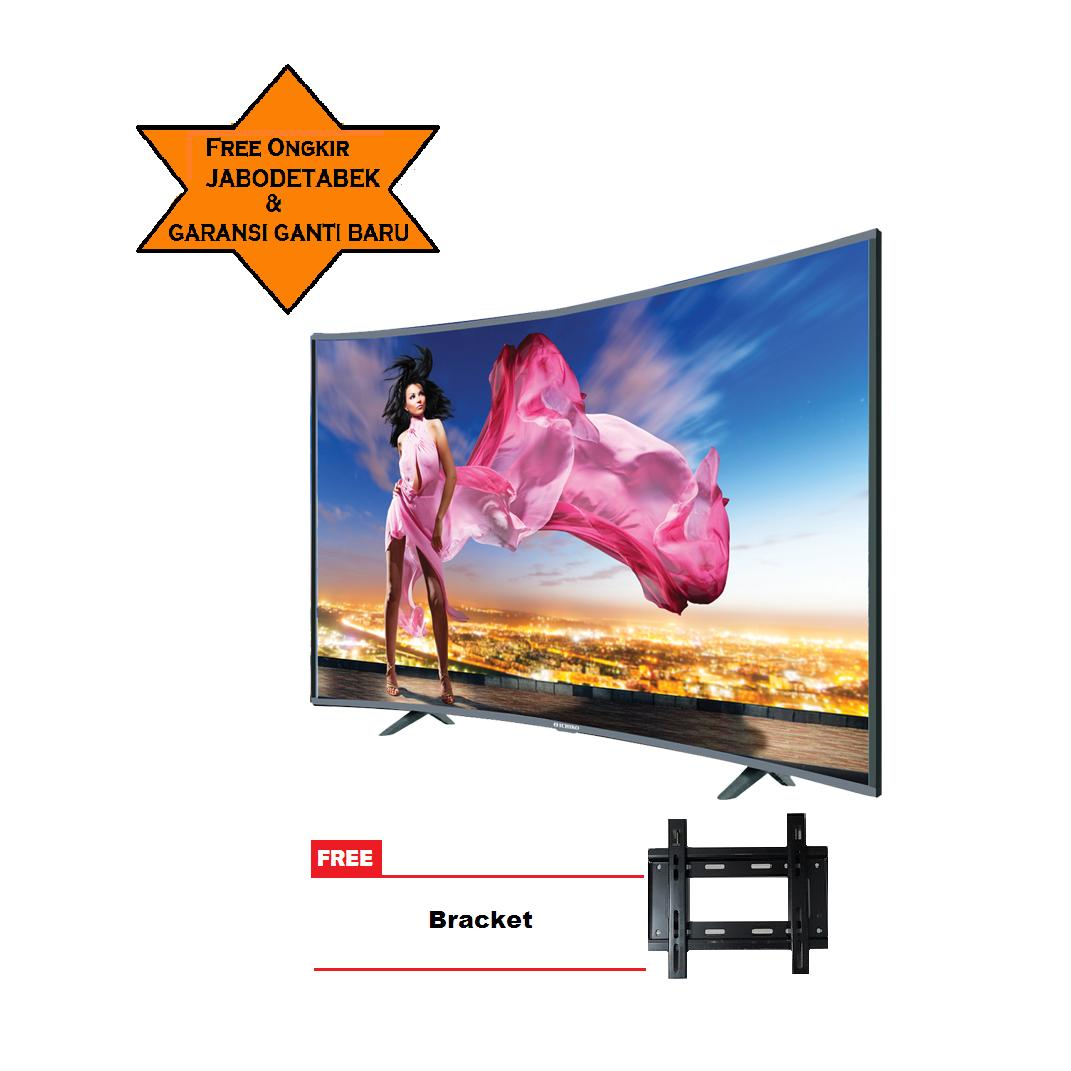 ICHIKO LED TV 39inch HD Curve Basic S3998 Free Bracket