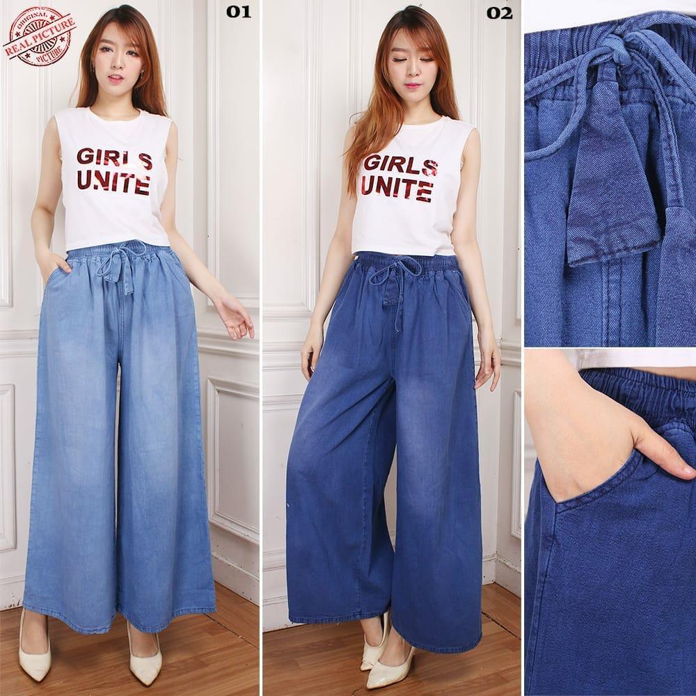 168 Collection Best Celana Kulot Yuetyf Longpant Jeans Jumbo Wanita