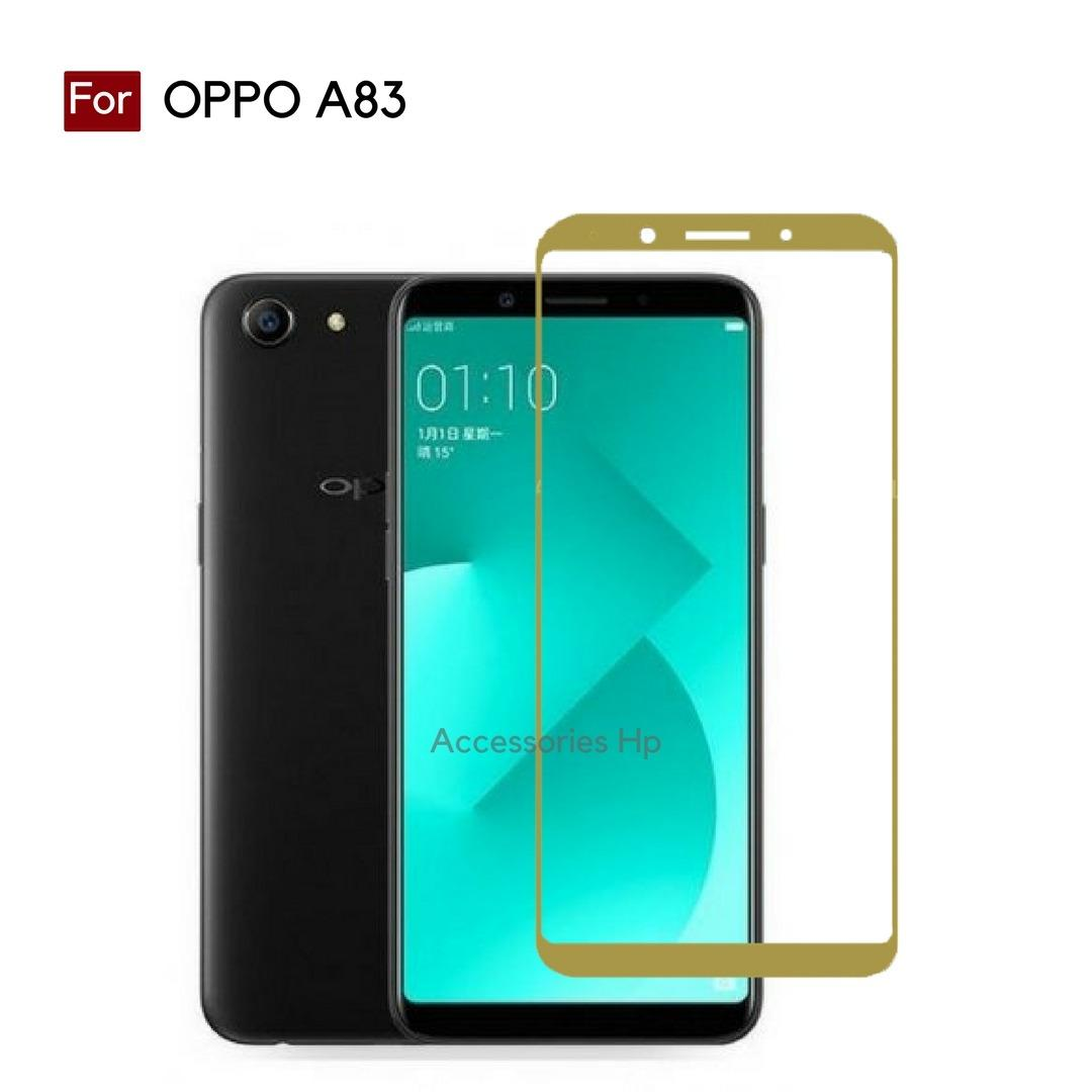 Accessories Hp Full Cover Tempered Glass Warna Screen Protector for OPPO A83 - Gold
