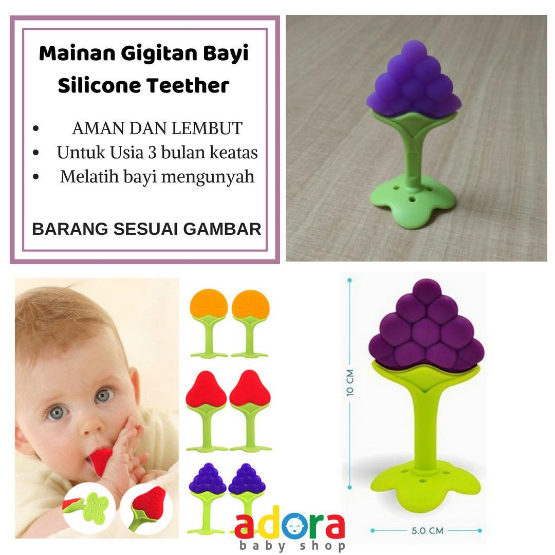 Fitur Gigitan Bayi Fruit Teether Silicone Stick Dan Harga Terbaru Banana Atau Mainan Grape