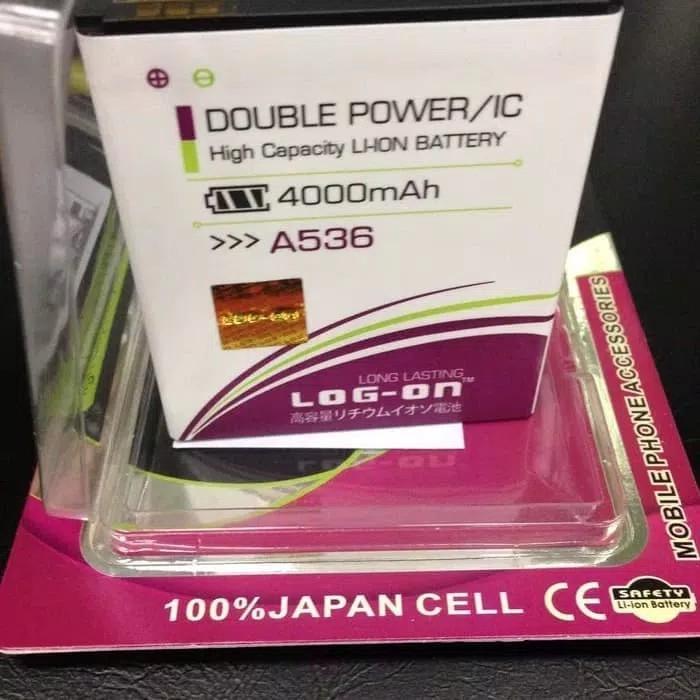 Baterai Battery Batre Lenovo A536 BL210 Original Log On Double Power