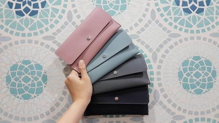 NEW Dompet wanita miniso long wallet bahan kulit sintetis ORIGINAL PROMO
