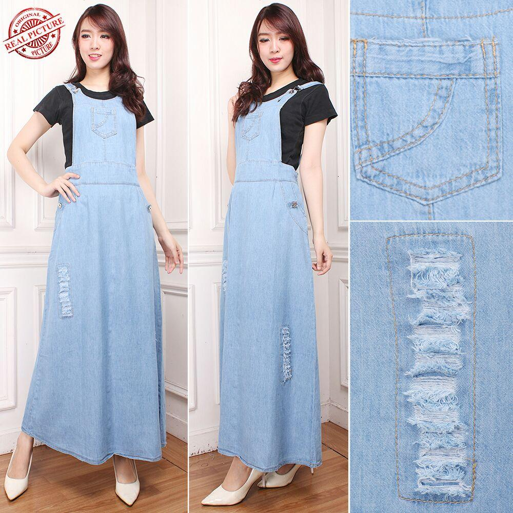 TJ Collection Dress Maxi Nafisa Jumpsuit Overall Jeans Wanita